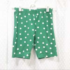 HANNA ANDERSSON // Green polka dot leggings